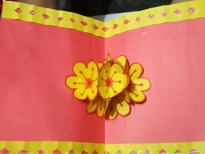 Diy Papier Pop Up Karte Basteln Mit Papier Herz Geburtstag