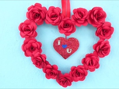 Beautiful Heart Wall Hanging | DIY♥️Valentines day Room decor | Best out of Waste 2019