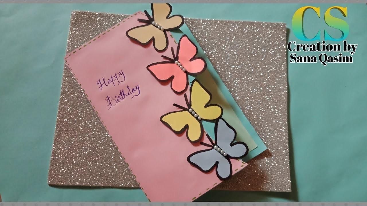 Beautifull Handmade Birthday card idea || DIY greeting card ideas for birthday