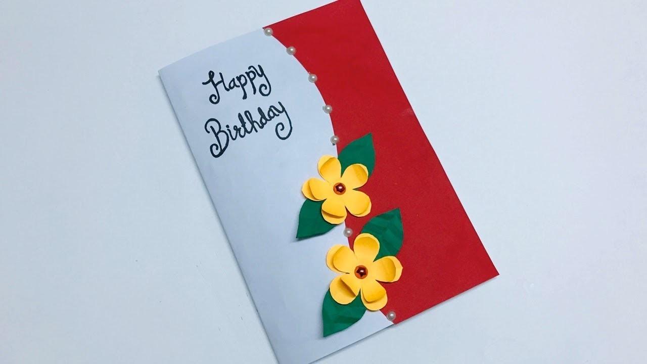 Birthday Pop up Card   Beautiful Birthday Pop up Card Idea   DIY Birthday Card