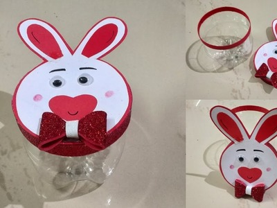 Bunny Gift Box | Recycle Plastic Bottles | Best out of Waste | DIY | Kids Craft