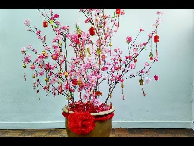 D.I.Y Cherry Blossom Flower for CNY