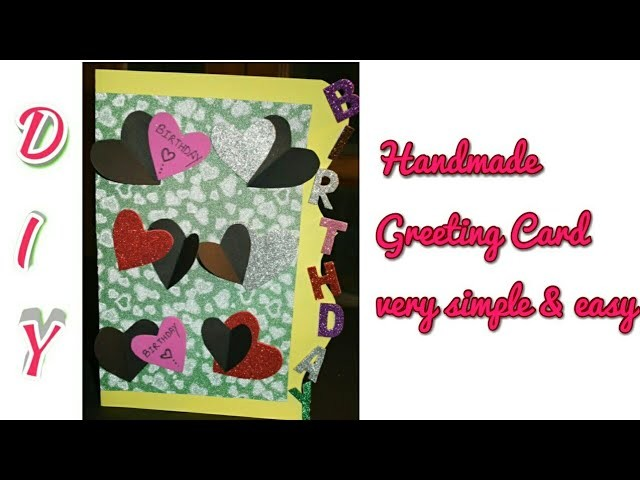 DIY Beautiful #HandMade Birthday card #PaperCraft #Birthday Greeting Cards #craft #ideas