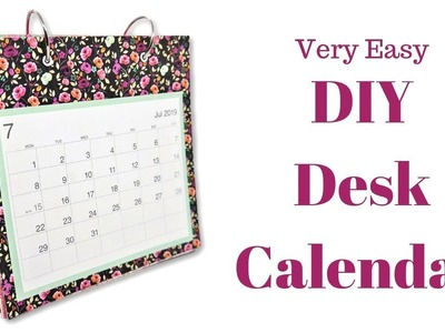 DIY Desk Calendar | Mixed Up Craft