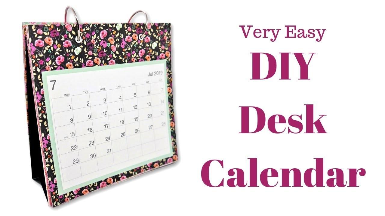 DIY Desk Calendar | Mixed Up Craft
