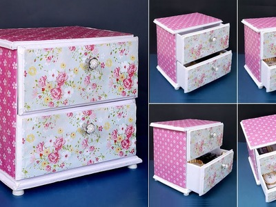 DIY Drawers !!! Best Out Of Waste Idea    Space Saving Idea    Drawer Desk Organizer Making at Home