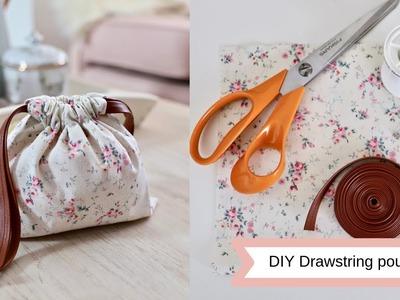 DIY drawstring pouches, easy sew.
