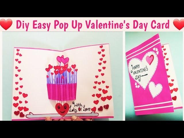 DIY Easy Valentine's Day Card Making Idea| Handmade 3D Pop Up #Valentinesdaycard Tutorial #popupcard