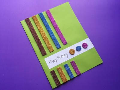 DIY : Handmade Card!!! How to Make Beautiful Paper Card For Birthday. Greetings card!!!