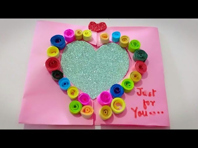 DIY Heart Greeting Card. Handmade Card Tutorial