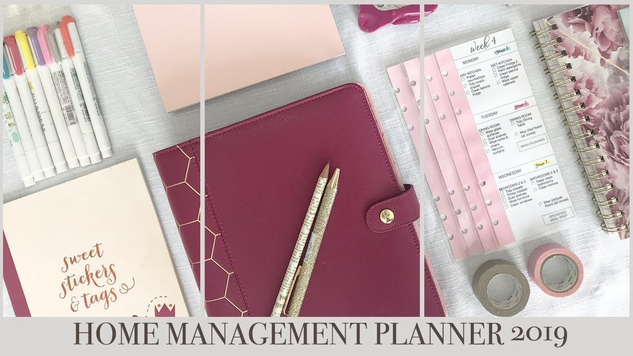 DIY HOME MANAGEMENT PLANNER 2019
