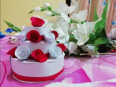 DIY | how to make Cake Craft using paper | school project