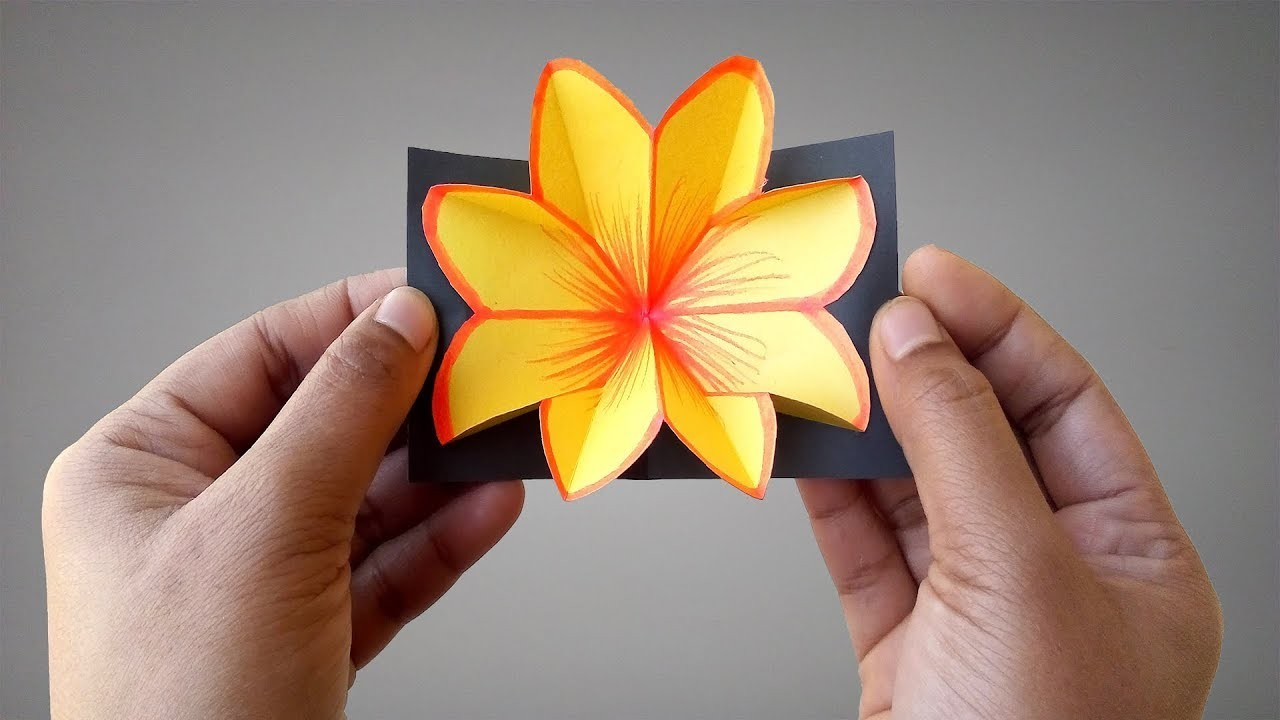►► DIY: How To Make Paper Flower Pop Up Card Easy Step By Step | Lovely Easy Crafts