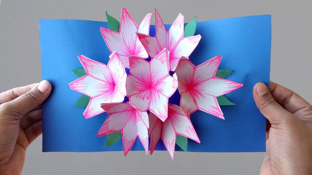 ►► DIY: How To Make Paper Flower Pop Up Card Easy Step By Step (2) | Lovely Easy Crafts