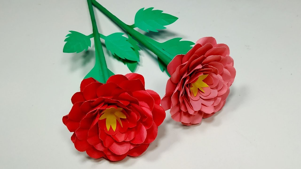 DIY: How to Make Paper Rose Making Easy Idea!! Paper Rose for Room | Jarine's Crafty Creation