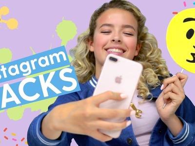 DIY Instagram Hacks: Unicorn Headband, Emoji Props, Blacklight Backdrop | GoldieBlox