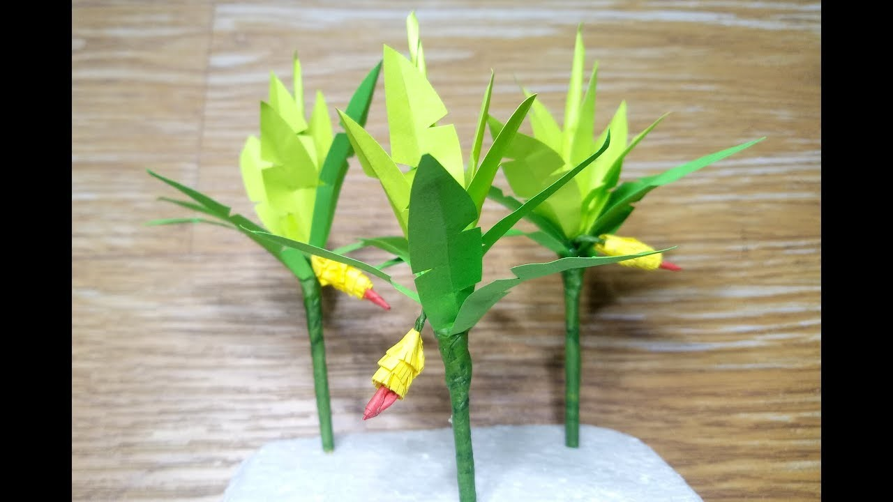 DIY MINIATURE BANANA TREE