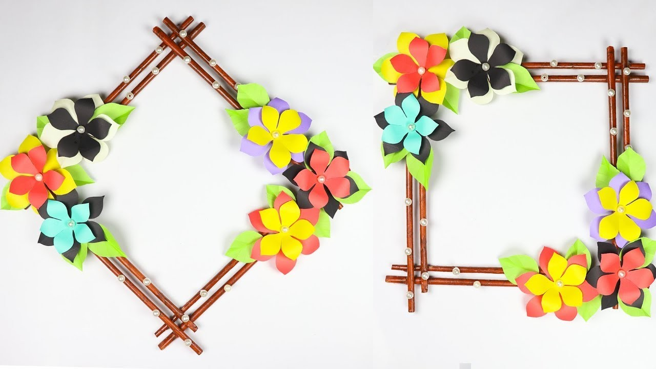 Diy paper flower wall hanging | Simple and beautiful wall hanging | Wall Decoration Ideas