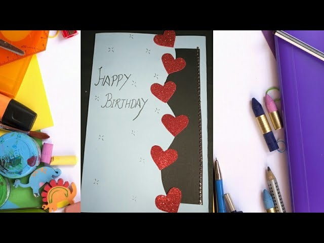 DIY Part -1 Beautiful #HandMade Birthday card #PaperCraft #Birthday Greeting Cards #craft #ideas