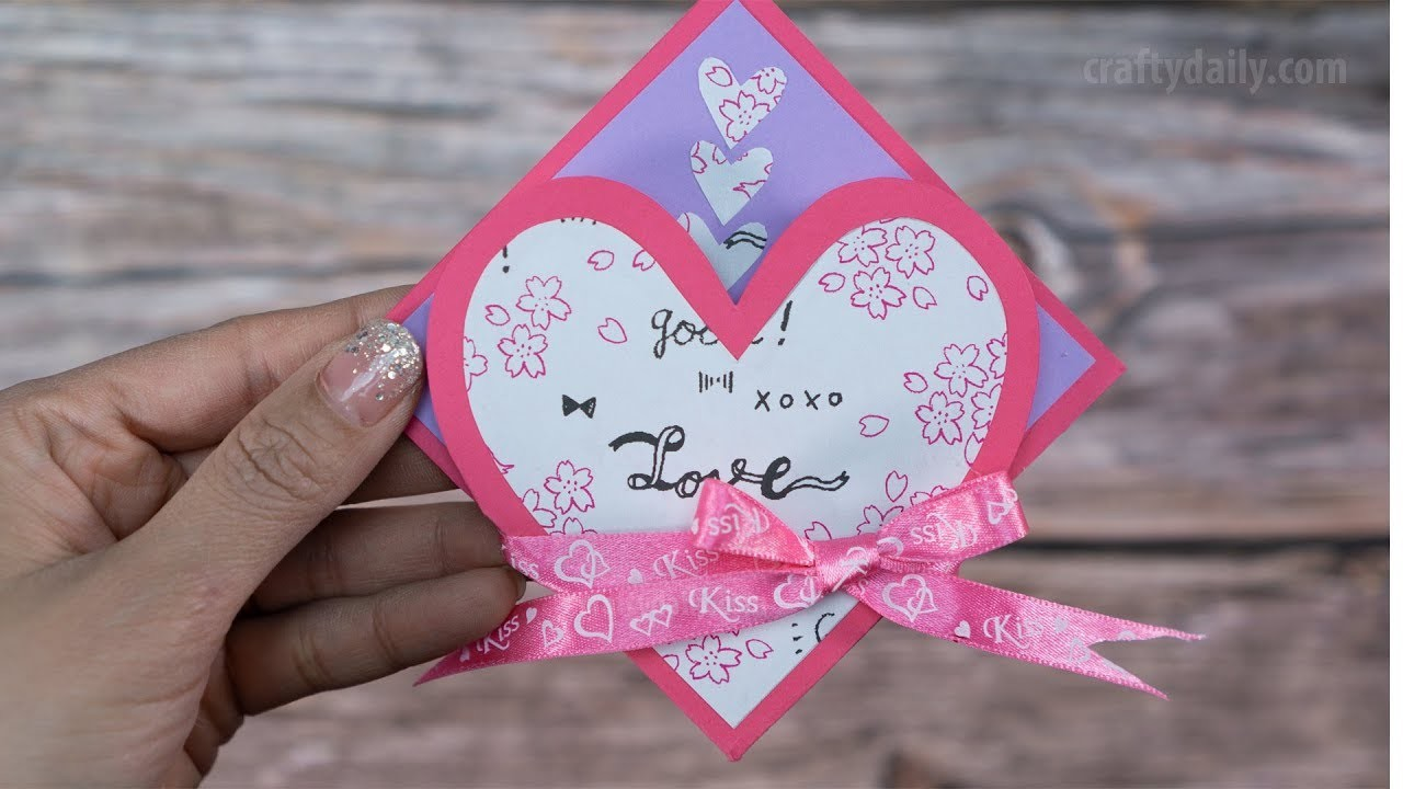 DIY VALENTINE CARD | How to make a valentine card for Valentine's Day.