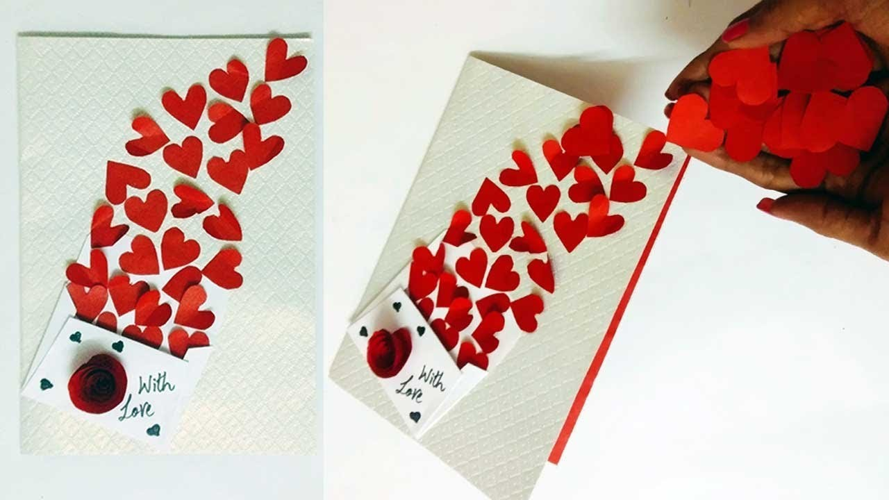DIY Valentine Card | Ideas For Homemade Valentine Cards For Him.Her
