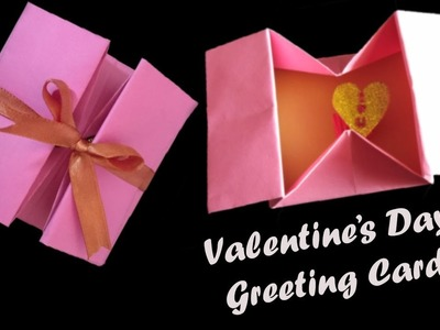 DIY Valentine's Day Origami Box Making Tutorial | How to Make Valentine Cards