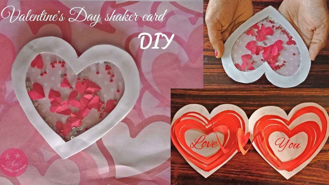 EASY HEART SHAPED SHAKER CARD FOR VALENTINE'S DAY 2019 | BIRTHDAY CARD | DIY GREETING CARD