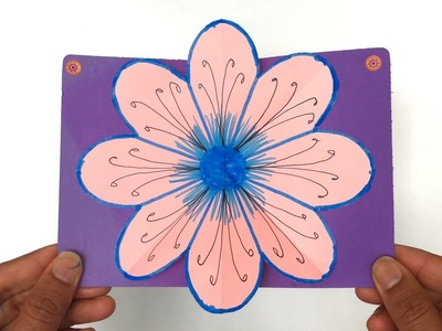 Flower Popup Card - DIY Tutorial by Paper Folds - 973