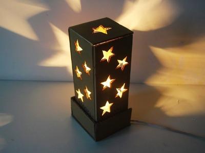How To Make A Starry Cardboard Lampshade    Cardboard Craft Idea    DIY Home Tutorial
