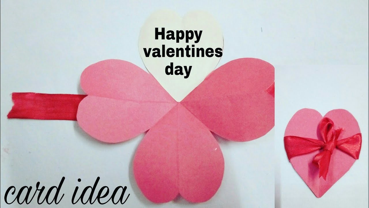 How to make Heart shape card.valentine pop up card.Diy valentines day card