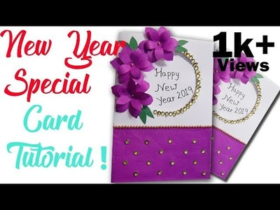 How to make new year special card  DIY || ! New Year Greeting card 2019
