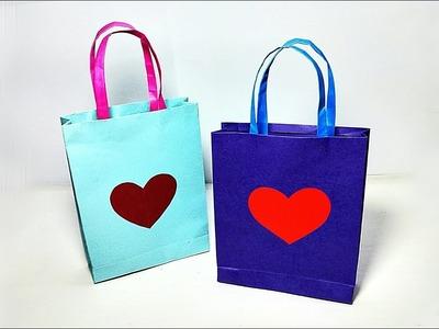 How to make Paper Bag || Love Paper Bag || Gift Bag || DIY