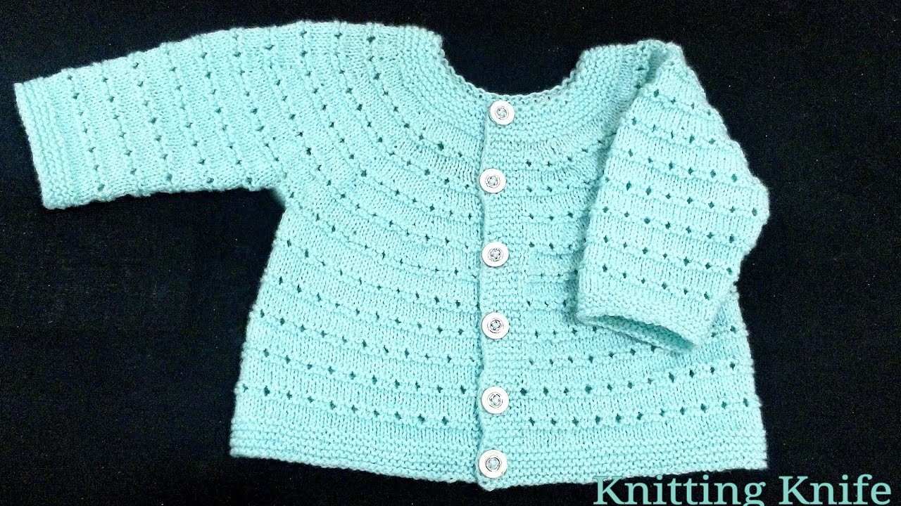 Knit Full Baby Set Step by Step for 3-9 months, Part 3 Cardigan. Hindi.English Subtitles