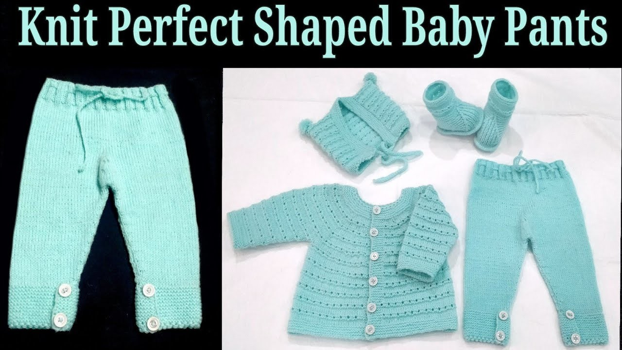 Knit Full Baby Set Step by Step for 3-9 months, Part 4 Pants. Hindi.English Subtitles