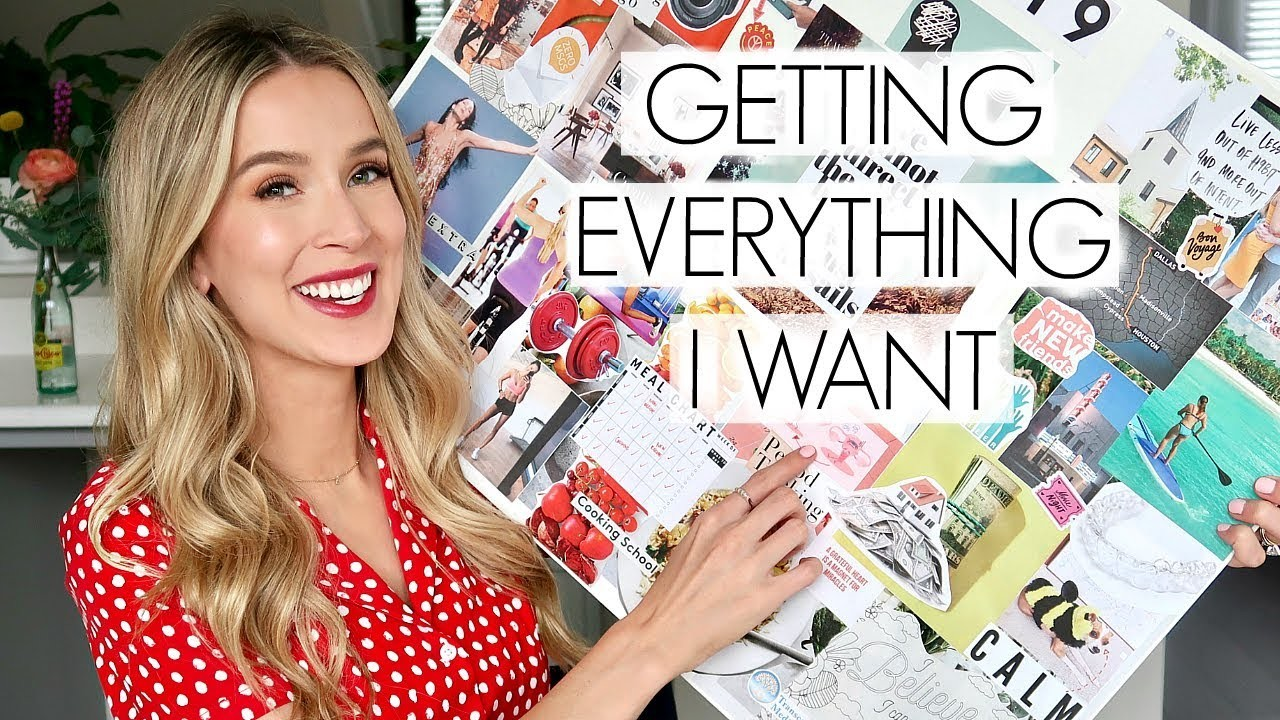 MAKING MY VISION BOARD 2019 GOALS DIY | leighannsays
