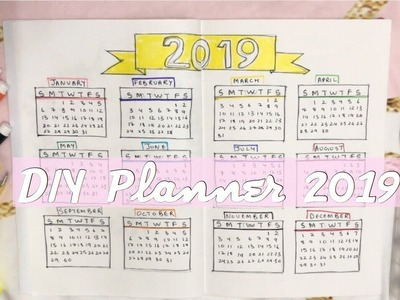 My Planner 2019 | DIY Planner for beginners