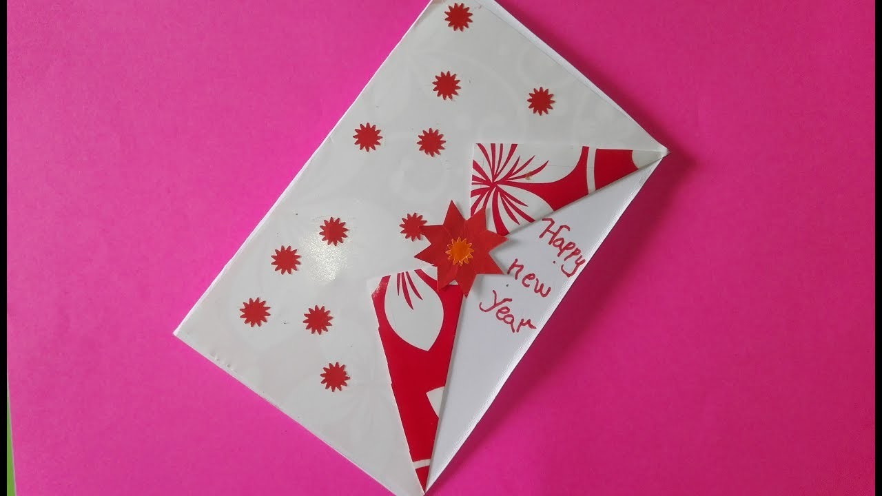 New year card 2019.how to make simple and easy.diy paper creaf