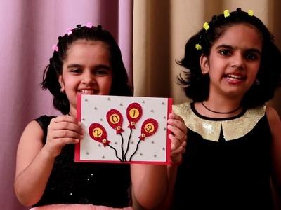 NEW YEAR CARD   easy handmade greeting card   kids craft   easy crafts   DIY Tutorial