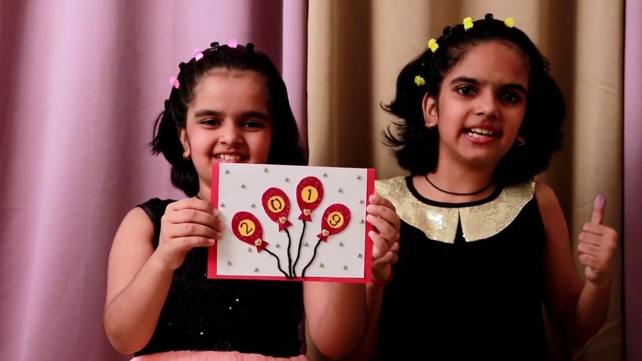 NEW YEAR CARD | easy handmade greeting card | kids craft | easy crafts | DIY Tutorial