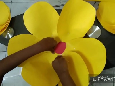 Paper Giant Flowers. DIY. Paper craft