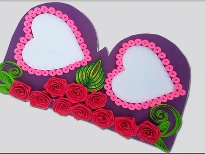 Paper Quilling |Beautiful  Heart designs Birthday card idea.Diy Greeting Pop up Cards for Birthday.