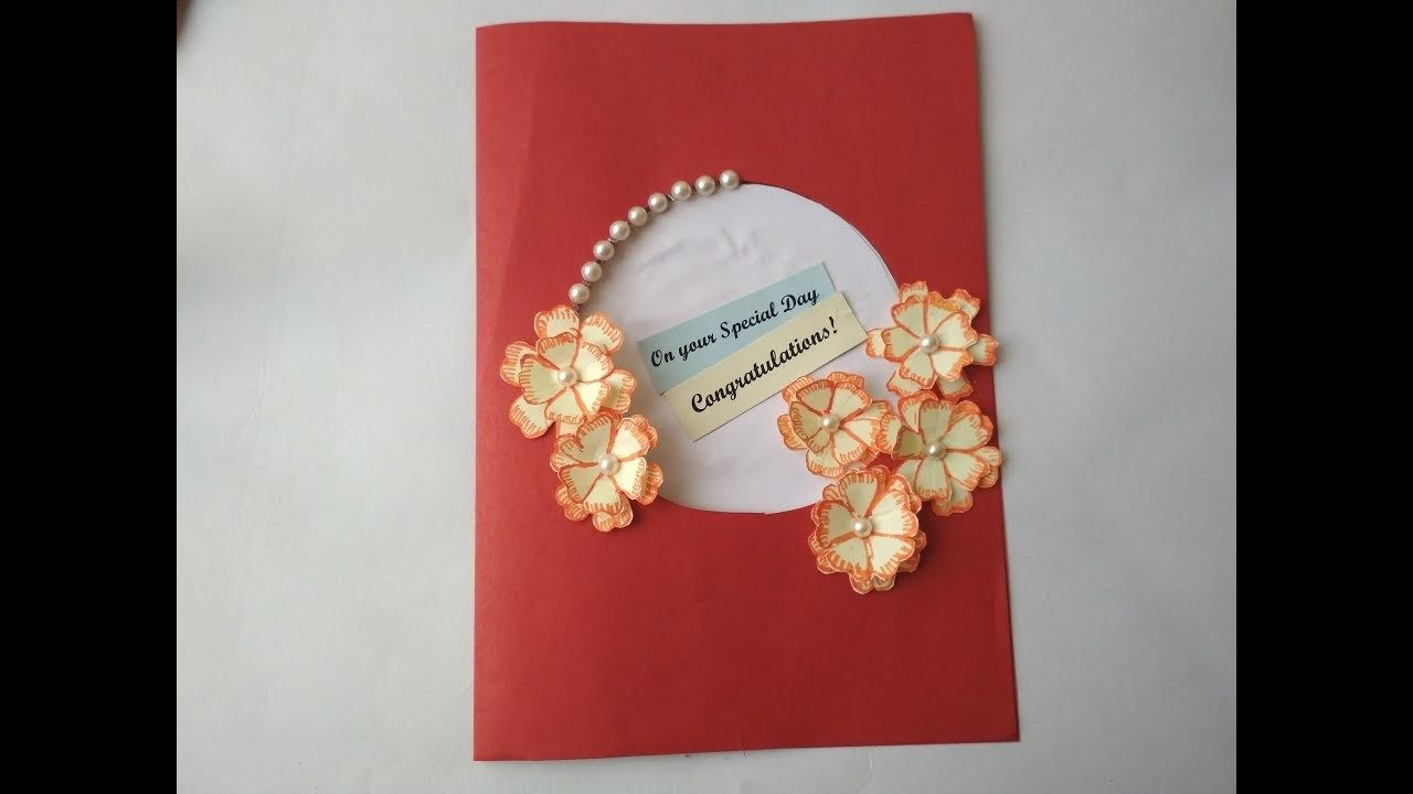 Simple and Easy DIY greeting cards. How to make a greeting card. Birthday Card. Kids special