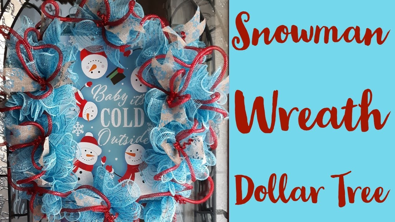 Snowman Wreath|Dollar Tree|DIY