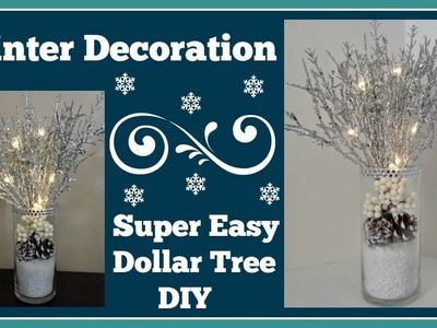 Winter Light up Decoration ❄ Dollar Tree Diy