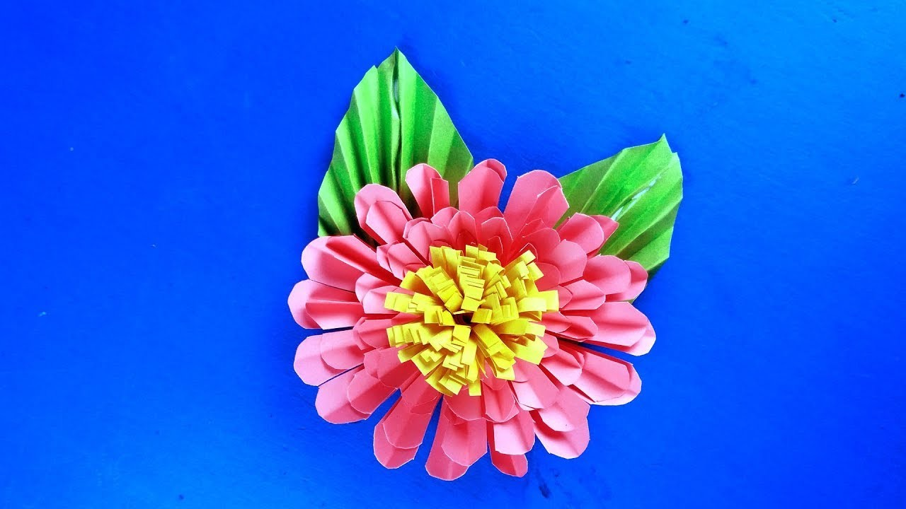 Aster Flower from Paper - Aster Flower DIY - 3 Sisters Crafts