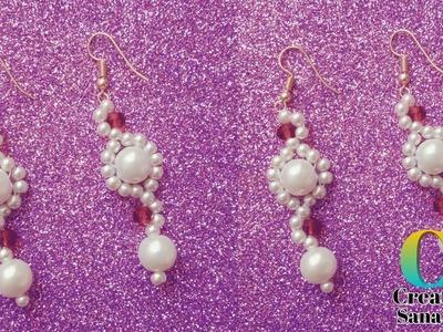 Beads Earrings making    DIY 5 minutes beading tutorial