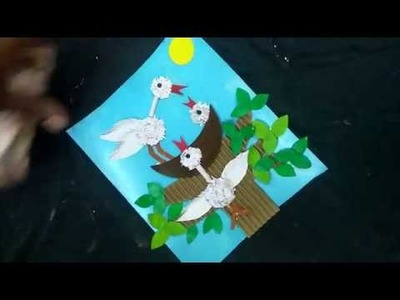 Bird's Nest Craft - Fun Craft for kids || Creative crafty ideas || Caveman Studios
