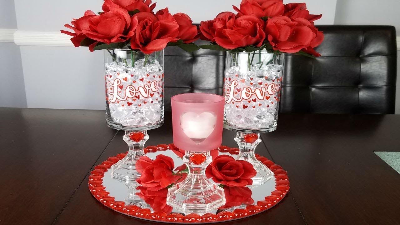Centerpiece ideas : DIY Valentines day decor