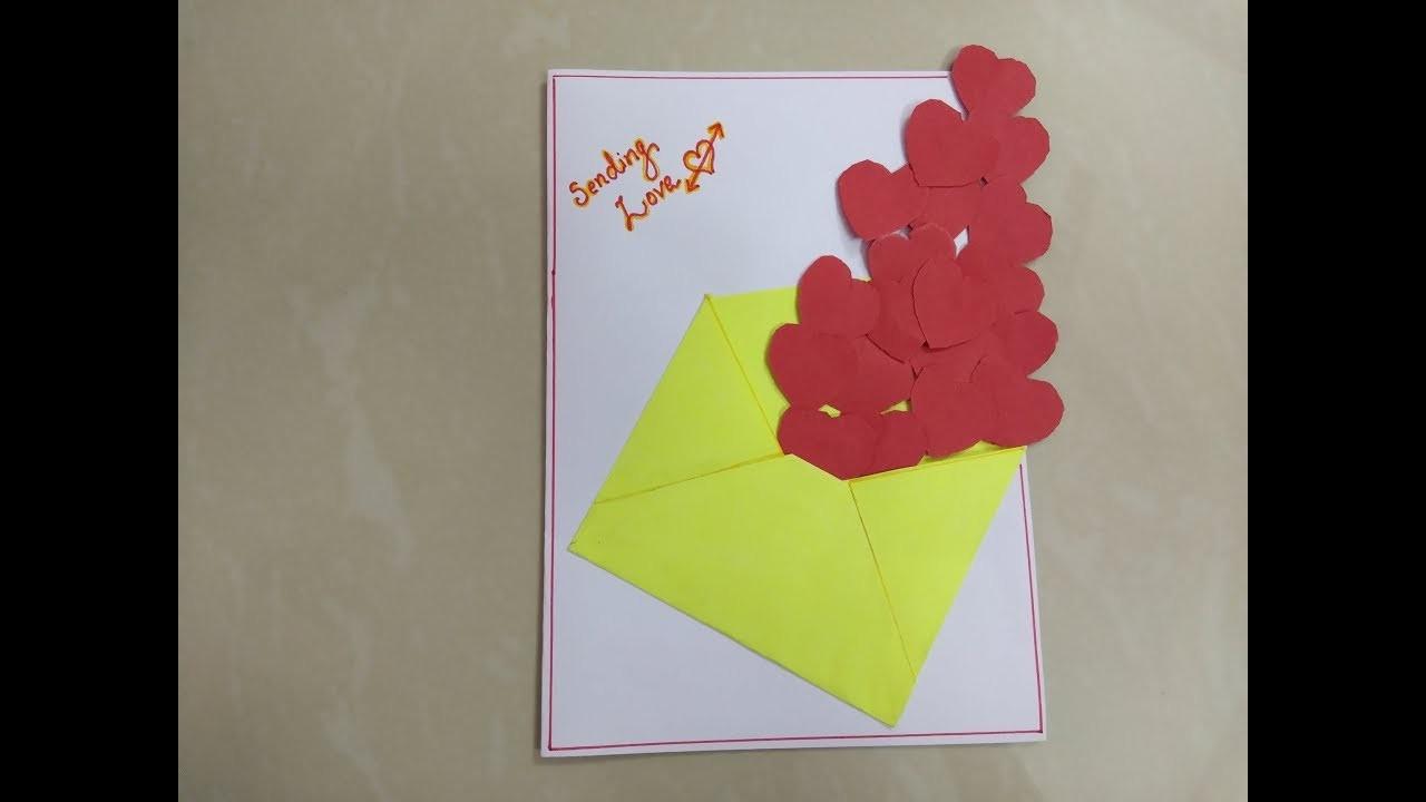 DIY easy valentine day greeting card