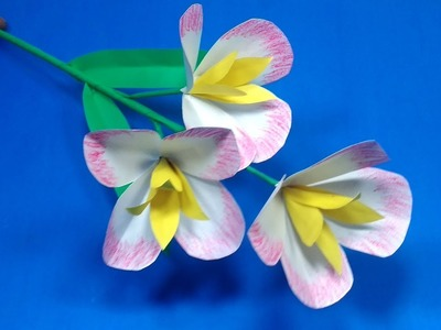 DIY Flower with Paper: Stick Flower Idea for Room Decoration | Paper Craft |Jarine's Crafty Creation